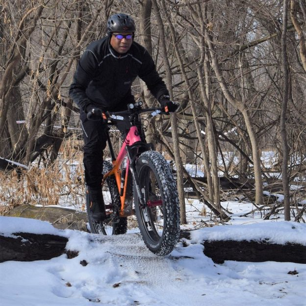 Its a perfect time of the year to jump on a fatty and hit the trail. This pic was taken last year at the Get Phat with Pat event in the Minnesota River Bottoms, in Bloomington, MN.