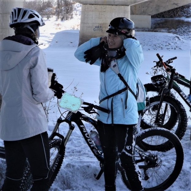 This Bike Pic Saturday, in the bold north, the winter temps are finally dropping so dig out the layers and have some fun!