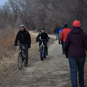This Bike Pic Tuesday, we caught this biker chick and dude out having fun along the Minnesota River bottoms near Bloomington, MN.