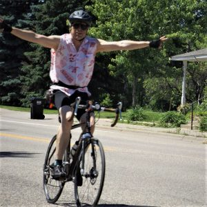 This Bike Pic Friday, we found a picture of this biker dude riding along the Mississippi River Trail.
