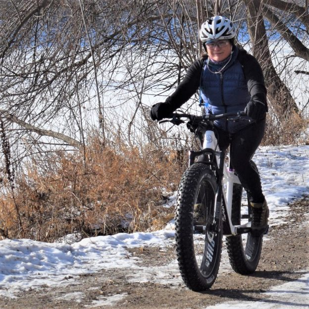 This Bike Pic Thursday, we caught this biker chick out having fun along the Minnesota River bottoms near Bloomington, MN.