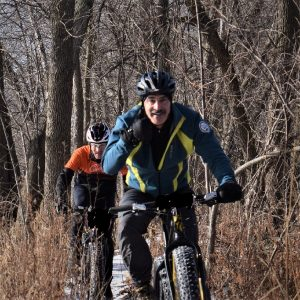 This Bike Pic Saturday, with warmer weather continuing, we caught these biker dudes out having fun on river bottom trail near Bloomington, MN.