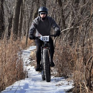 Today'sbike pic, we found this biker dude riding the Minnesota River bottom trail near Bloomington, MN. Hope their bikes have studs with the icy conditions?