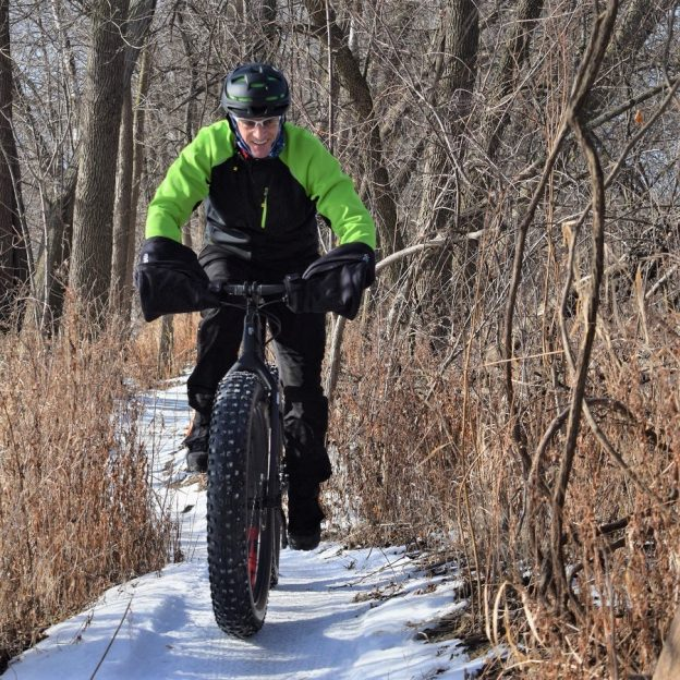 This Bike Pic Thursday, we caught this biker dude out having fun in the Minnesota River bottoms near Bloomington, MN.