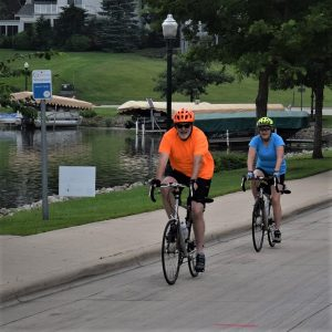 Today'sbike pic, looking through last summers photo archives, we found this biker couple riding around Fountain Lake, in Albert Lea, MN.See more fun photos on their Facebook page from Rock N' Roll the Lakes.