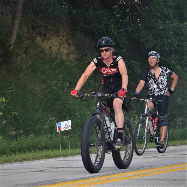 Looking through the summer archive we found this bike pic of cyclists riding across Iowa. See more fun photo on the RAGBRAI 2018 website.