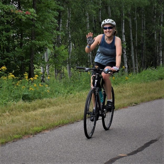 This Bike Pic Saturday, digging through the archives, we caught this biker chick out on the Mesabi Trail, on the Great River Energy Mesabi Trail Tour