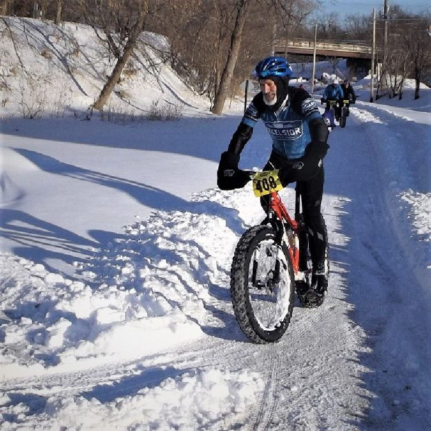 This Bike Pic Saturday, with several more inches of snow that just fell and another wave coming tonight, have some fun. Maybe taking in a race?