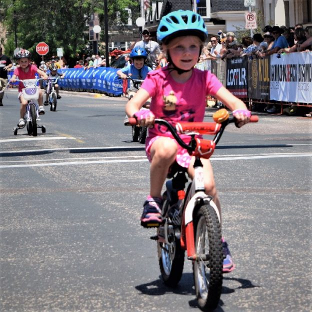 This Bike Pic Tuesday, digging through the archives, we caught this young biker chick out ahead of the pack, in the kid's race at the North Star Bicycle Festival, in Stillwater MN.
