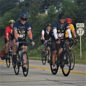 In this bike pic, looking through the summer archive, we group riding across Iowa. See more fun photo on the RAGBRAI 2018 website.