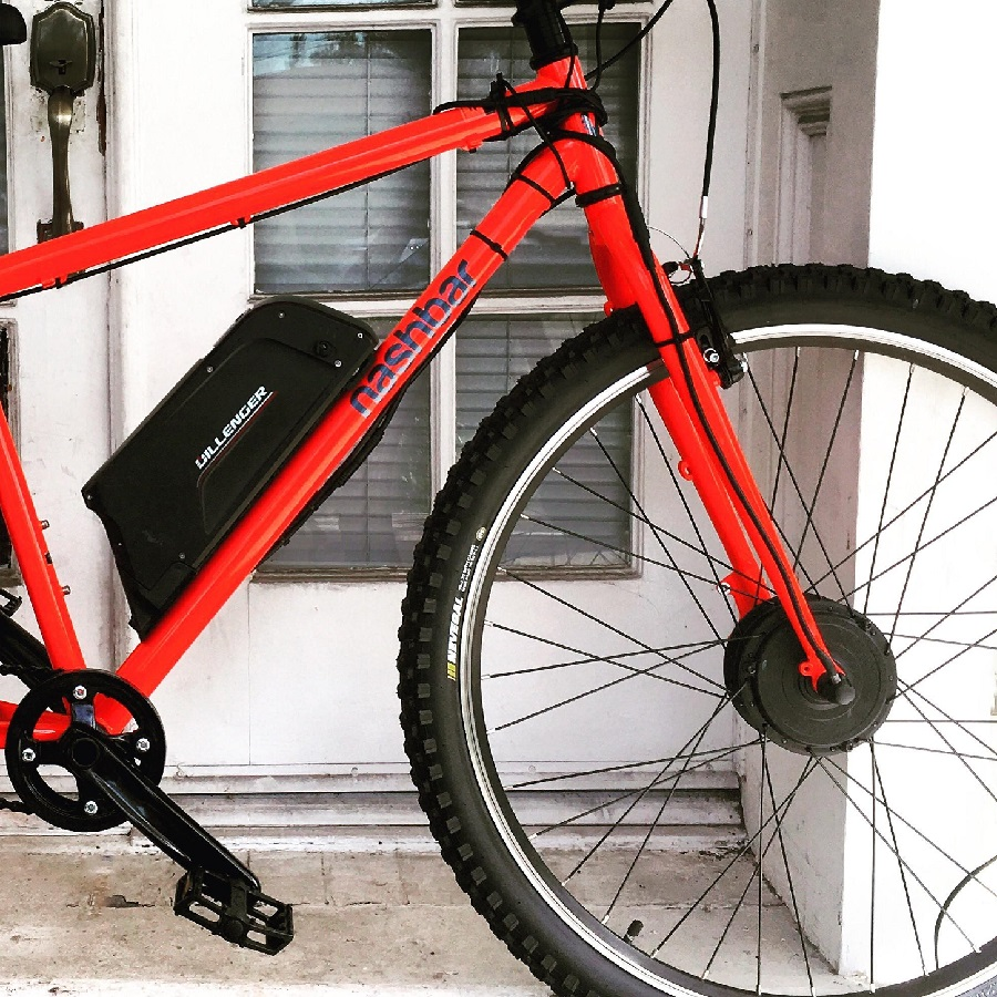 Front motor system for an electric bike