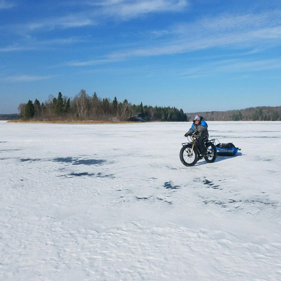 From ice adventures, getting out to an ice fishing hot spot usinge-fat bikes can extend the winter fishing season or other shoulder season activities.