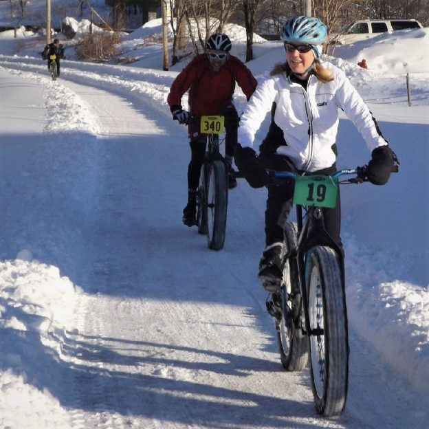 This Bike Pic Saturday, with several more inches of snow that just fell and another wave of cold temps coming in, dress in layers and have some fun.