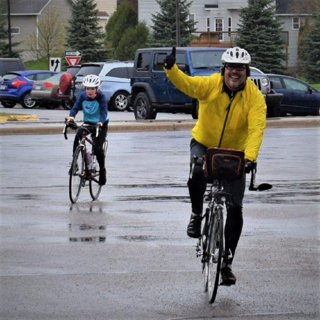 Its Bike Pic Thursday, with fond springtime memories as the March rains continue to melt down our snow levels.
