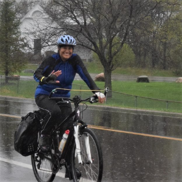 This bike pic Wednesday, wearing rain gear to keep you dry, celebrate day-17 of 30-days of biking.