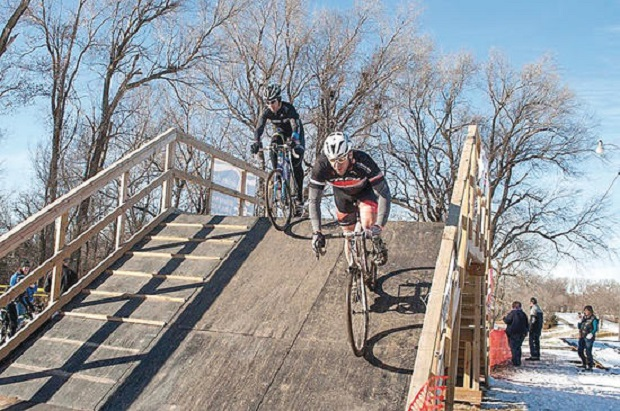 Cyclists from across the Midwest will come to Le Mars for the 5th Frosty Cross event, hosted by Bike Central Cyclists from age 7 to 70 have participated in past Frosty Cross events. This year's course will be in the Le Mars Municipal Park, SD (Photo contributed)
