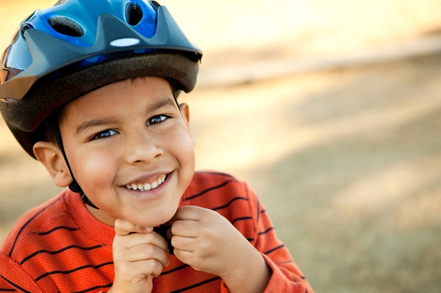 This photo shows wearing a bike helmet plays an important role in preventing minor to severe head injuries and should be worn when on a bicycle. photo courtesy of: https://www.healthunit.com