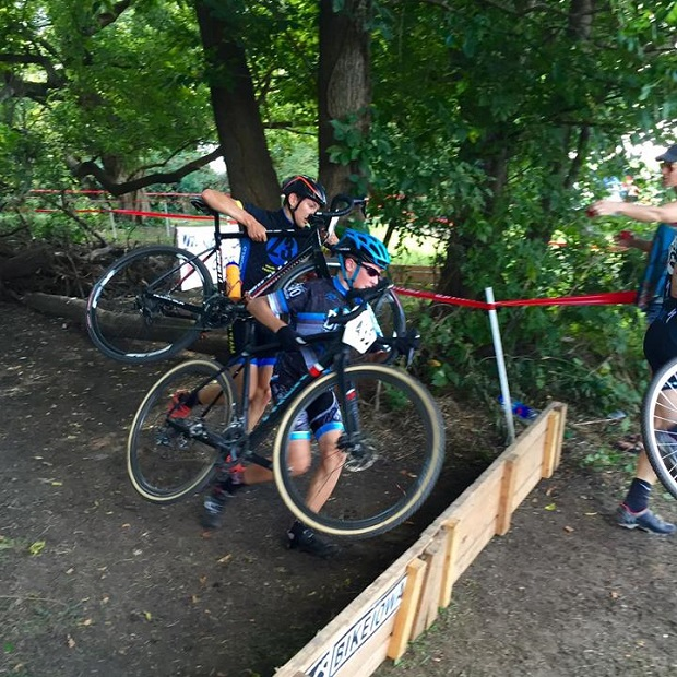 These Central Junior Cycling Devo's are making it over some obstacles in training for the seasons grand finale. (photo from Central Junior Cycling Devo facebook)