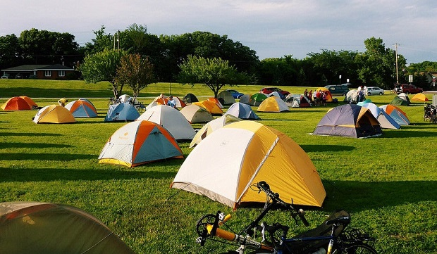 There is always plenty of green space for campers on the Tour of Minnesota.