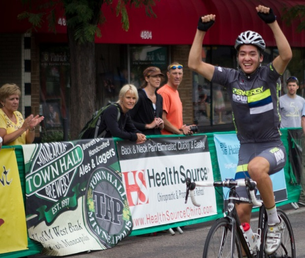 Victory over the finish line at last years Southside Sprint.