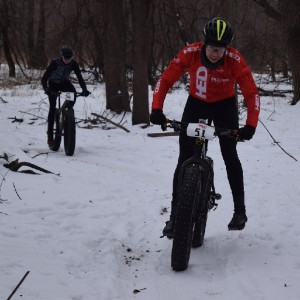 Here fat bike riders last week maneuver the course along the Minnesota River, in Bloomington, MN, in preparation for the  Penn Cycle Fat Tire Loppet, Sunday, February 7th, in Minneapolis