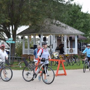 Music in Peterson, while riding a bike along the Root River Trail in Southeast Minnesota is a common thing.