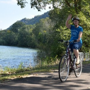 "Riding your bike around Lake Winona, is a great way to enjoy the many cycling opportunities n Southeast Minnesota's ""Dridtless Area""."