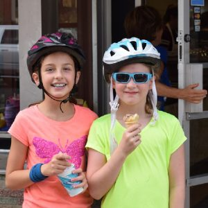 With warmer weather ahead  stopping for ice cream when riding your bike seams like the natural thing to do.