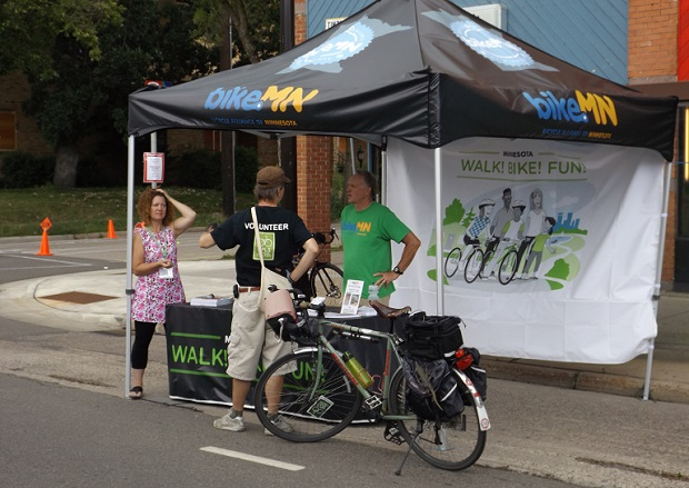 Bike Alliance of MN tent at open Streets NE Mpls, 2014