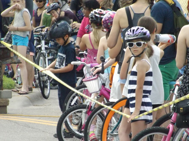 All ages of cyclists and walkers had fun at the Minneapolis Open Streets celebration.