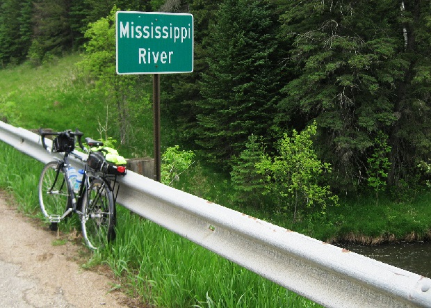 One of the many river crossings as the MRT makes a north, east, south and west arc through the Minnesota's wooded forests.