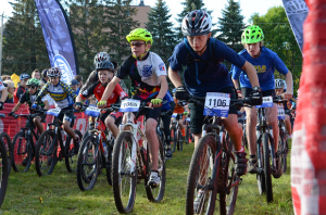 Competition on the Jail Trail, near St Cloud, Minn. photo from MN High School Cycling League.