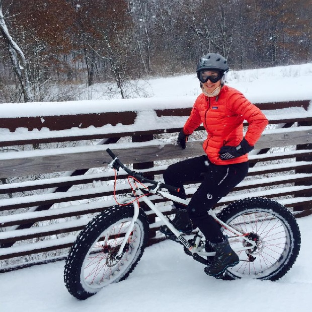 """She is ready and waiting for the """"Fat Vasa"""" or Fat Bike Vasaloppet, in Mora, MN this Sunday."""