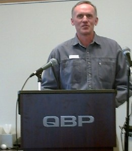 Rob, presenting at Quality Bicycle Products on behalf of BikeMN.