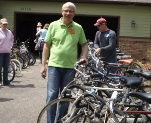 Rick Anderson, at his annual Bike Sale in Apple Valley, MN.