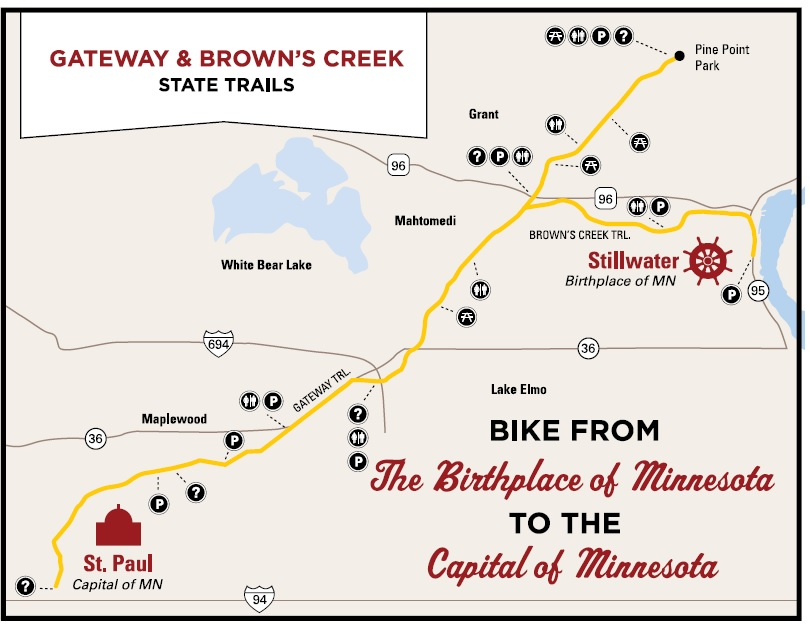 Map of the Browns Creek and Gateway Way Trails.