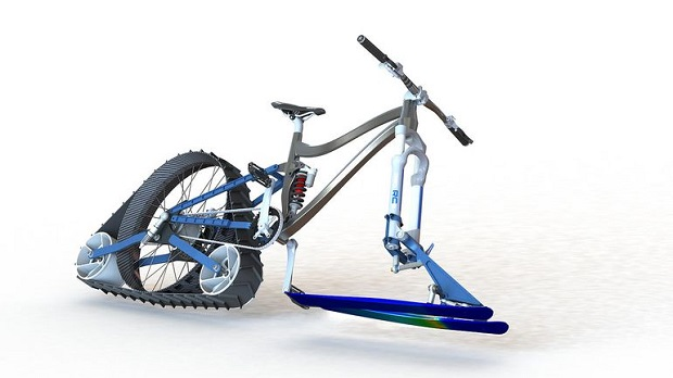 Rendering of the planned Avalanche snow bike project.