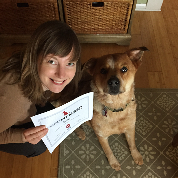 Betsy signed up her dog, Ernie, as a Bike Fed member. Look at how happy that dog is. Do the right thing. Be like Betsy.